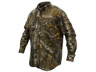 Adult & Youth Camouflage Field Shirt Long Sleeve Realtree Xtra Hunting Camping