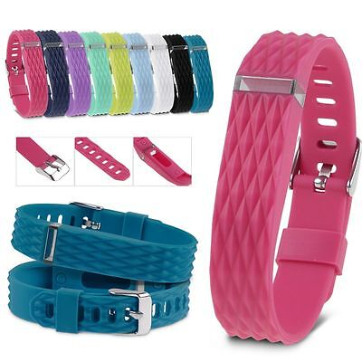 3D Replacement Wristband Band Silicone Bracelet W/CLASSIC BUCKLE For Fitbit Flex