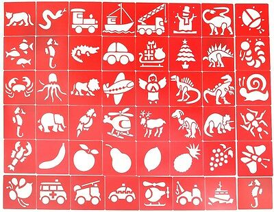 Bumper Pack Of 48 Plastic Painting/drawing Stencils
