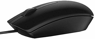 DELL MS116 USB Black Optical Scroll Mouse 1000dpi  Brand NEW