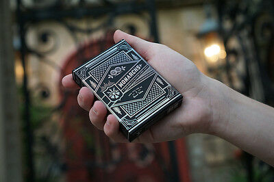 Monarchs Now You See Me 2 Black With Silver Foil 1 Deck Playing Cards Theory11