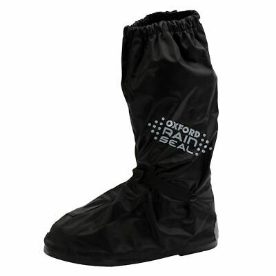 Oxford Rainseal Waterproof Motorcycle Over Boots Bike Scooter Black Elastic Zip