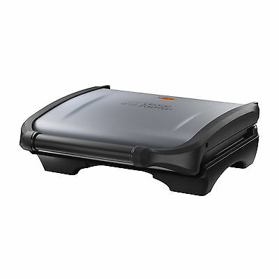 George Foreman 19920 Five Portion Family Non-Stick Grill in Silver - Brand NEW