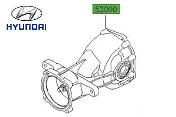 Genuine Hyundai Santa Fe Rear Differential - 5300039011