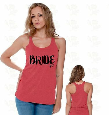 Bride Marriage Future Mrs Bridesmaid Gift Bridal Party Racerback TANK TOP CA10