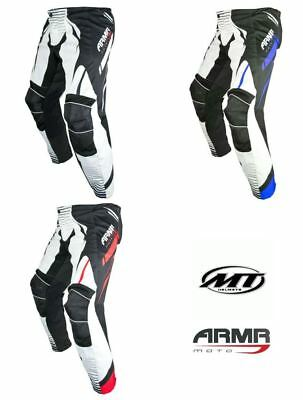 ARMR PMX3 Motocross Bike Motorcycle Pants Trousers Black Blue Red New Off Road