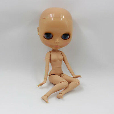 "Factory 12"" Neo Blythe RBL Movable Joints Tanned Skin Bald doll without hair"