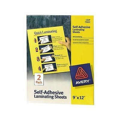Avery Self Adhesive Laminate Sheets Quick Easy Peel Backing Grid Office Supply