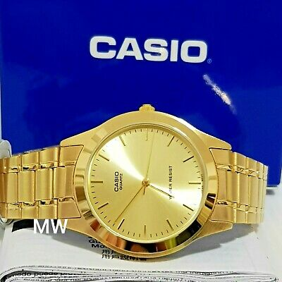 Casio MTP1128N-9A Stainless Steel Band Gold Tone Analog Quartz Dress Men's Watch