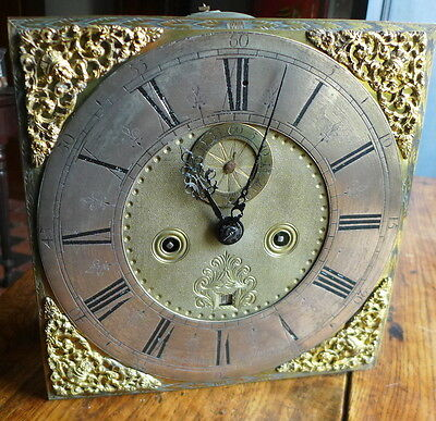 Early 18th Cent 5 Pillar Longcase Clock Movement
