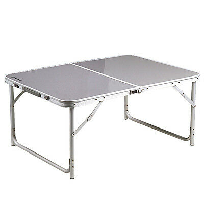 Kingcamp - Table de Camping Pliable en Aluminium - 2 Hauteurs Ajustables