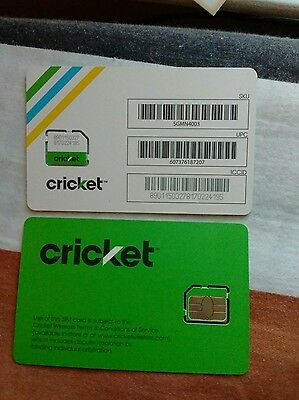 Brand New Cricket 4G LTE Micro Sim Card Ready For Activation