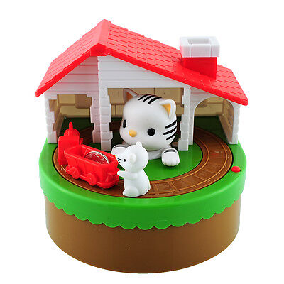 Stealing Coin Cat Mouse Penny Cents Piggy Bank Saving Box Money Box Kids Gift