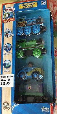 Thomas & Friends Wooden Railway Real Wood  Slippy Sodor Gift Pack