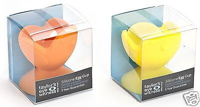 TEW Fun Novelty Suction Chicken Design Silicone Egg Cup ~ Orange or Yellow