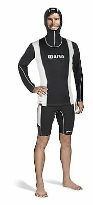 Mares Mens Long Sleeve Hooded FIRESKIN Undersuit Vest Top - OFFICIAL UK DEALER
