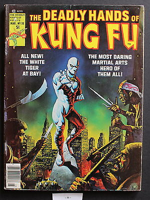 DEADLY HANDS OF KUNG-FU #22 1st cameo JACK OF HEARTS Giffen White Tiger VGFN 5.0
