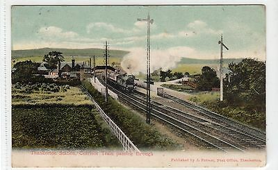 THANKERTON STATION: Lanarkshire postcard (C18123)