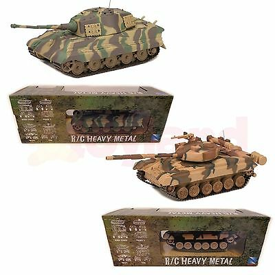 Rc Remote Control Tank 1:32 Toy Army T80 / King Tiger Christmas Stocking Filler