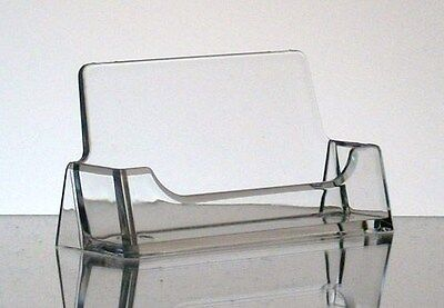 2 New CLEAR Acrylic Desktop Business Card Display Holders T'z Tagz Style
