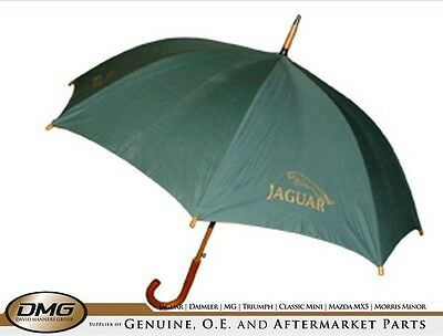 "Umbrella 24"" in Green with jaguar logo"