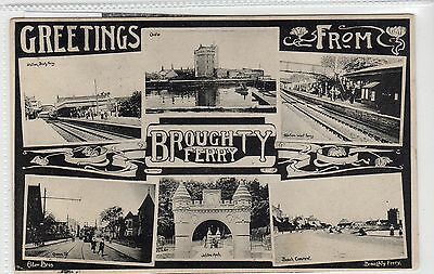 GREETINGS FROM BROUGHTY FERRY: Angus multiview postcard (C18299)