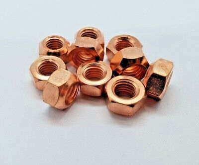 10 X M8 Copper Flashed Exhaust Manifold Nut 8Mm Nuts High Temp