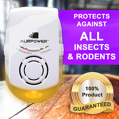 Murpower® Powerful Indoor Plug-in Pest Repeller with Night Light Spider Rodent