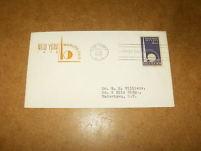 Enveloppe premier jour / first day envelope - NEW YORK WORLD'S FAIR 1939