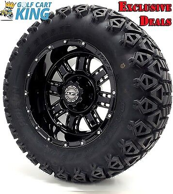 "12"" Madjax TRANSFORMER Black Wheel and 23x10.5-12 Golf Cart (6-PLY) Tire Combo"