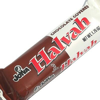 Joyva Halvah Chocolate Covered Bars 1.75oz 12 Count