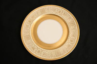 "Heinrich Co Selb Gold Encrusted Rim Into Center 10 7/8"" Charger Plate-Bavaria"