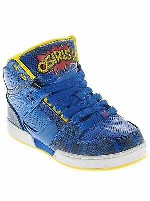 Osiris NYC83 Blue/Red/Yellow Skate Shoes Size 6 NIB