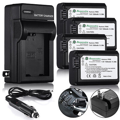NP-FW50 Battery & Wall Charger For Sony Alpha 7 A7 A7S NEX-7 A6000 A5000 A3000