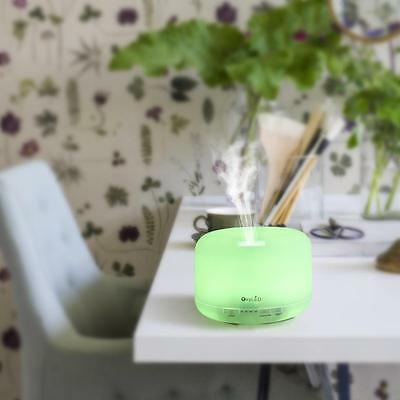 500ML Aroma Diffuser Atomizer Air Humidifier LED Ultrasonic Purifier Lonizer US