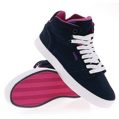 Osiris Effect Skate Shoes Navy/White/Pink Hi Top Shoes Mens Size 9