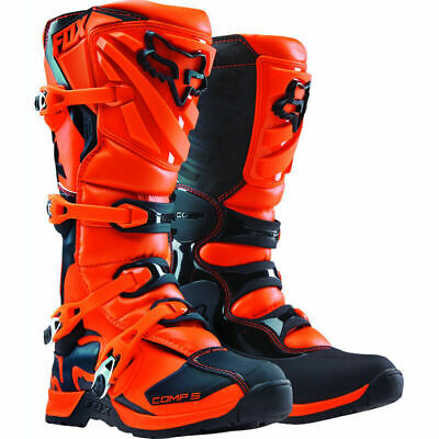New 2017 Fox Racing Comp 5 Youth Mx Offroad Boots Orange All Sizes- Youth