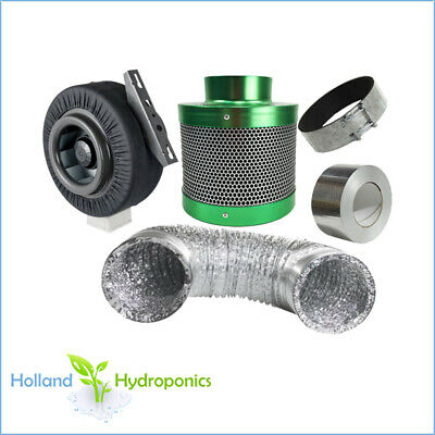 "6""  Ventilation Combo Filtaroo Carbon Filter Exhaust Fan Ducting Hydroponics"