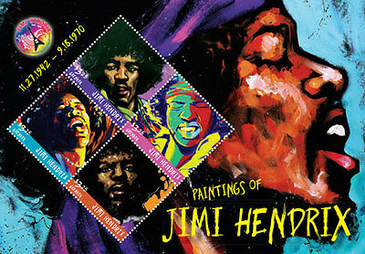 2016 Jimi Hendrix- Postage Stamps & Souvenir Sheet From - Granada
