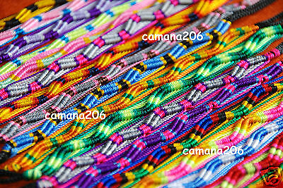 LOT of 1000 PERUVIAN Friendship Bracelets Handmade mix colors...