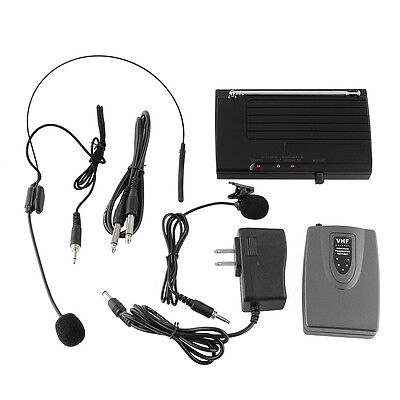 WIRELESS Lapel Headset MICROPHONE SYSTEM Suitable Public Speaking Singing Stage