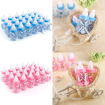 Candy Box Baby Shower Bottle Party Favours Gift  Decoration Blue/Pink