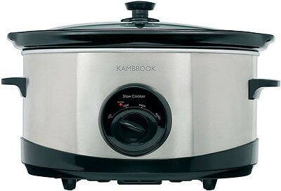 Brand New KSC110 Kambrook - 6L Slow Cooker, Stainless Steel