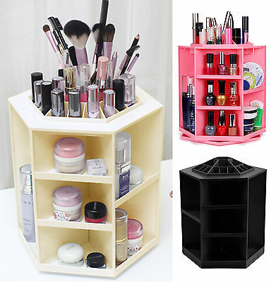 Rotating Cosmetic Organizer Make Up Different Colours Fashion 360 degree UK