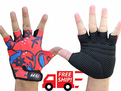 Cycling Bike Bicycle Half Finger Fingerless Gloves Outdoor Sports Bike Riding