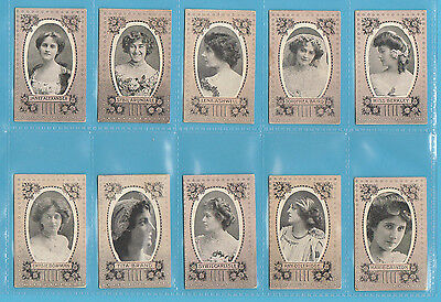 Actresses - Wills Scissors - Very Rare Set Of 50 Actresses Cards - 1904