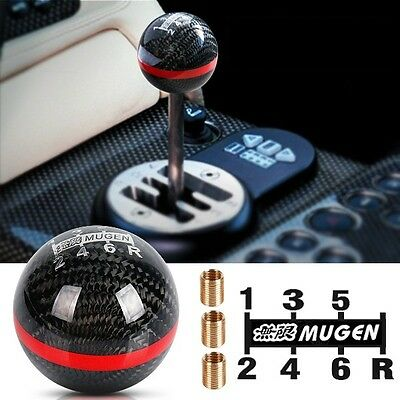 MUGEN Carbon Fibre 6 Speed Black MT Manual Shift Transmission Shifter Gear Knob