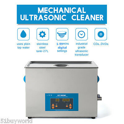 27L Digital Ultrasonic Cleaner Jewelry Ultra Sonic Bath Cleaning Heating Timer
