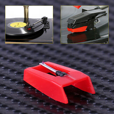 Red Turntable Stylus Needle for Gramophone LP Vinyl Record Player Phono New
