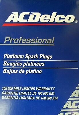 FORD FALCON SPARK PLUGS BF 4.0l 6cyl DOUBLE PLATINUM 160000km GENUINE ACDELCO